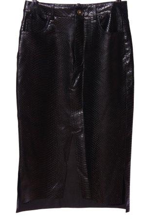Zara Basic Faux Leather Skirt black elegant