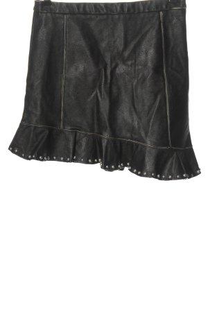 Zara Basic Faux Leather Skirt black casual look
