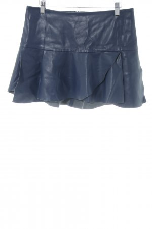 Zara Basic Kunstlederrock blau extravaganter Stil