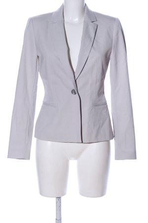 Zara Basic Short Blazer light grey business style