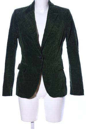 Zara Basic Kurz-Blazer grün Business-Look