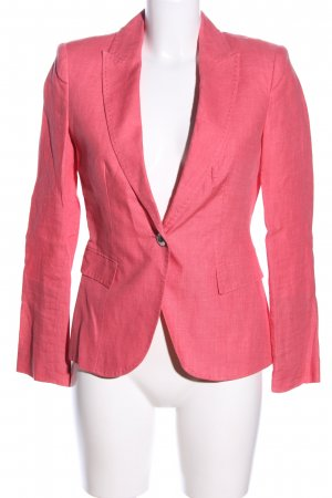 Zara Basic Kurz-Blazer pink Business-Look