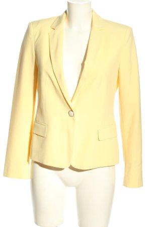 Zara Basic Kurz-Blazer blassgelb Elegant