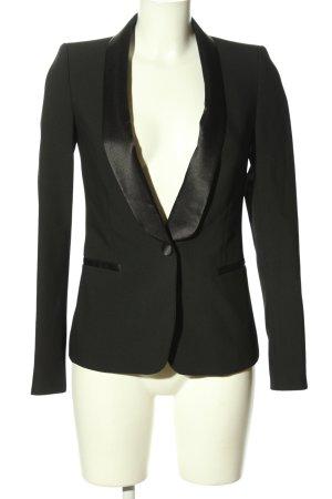 Zara Basic Kurz-Blazer schwarz meliert Business-Look