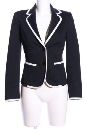 Zara Basic Kurz-Blazer schwarz-weiß Business-Look