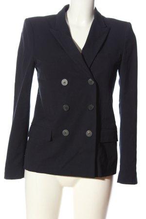 Zara Basic Short Blazer blue business style