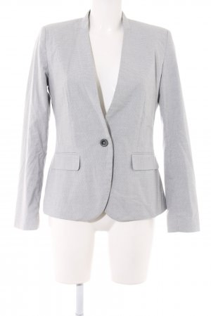 Zara Basic Kurz-Blazer hellgrau Allover-Druck Business-Look