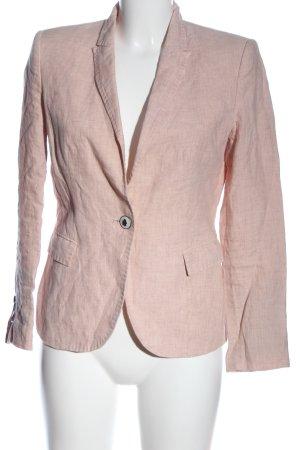 Zara Basic Kurz-Blazer nude meliert Business-Look