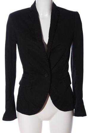 Zara Basic Kurz-Blazer schwarz Streifenmuster Casual-Look