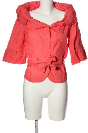 Zara Basic Kurz-Blazer rot extravaganter Stil