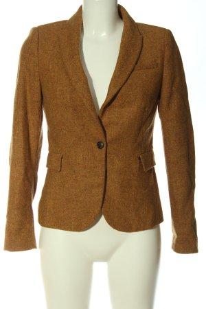 Zara Basic Short Blazer light orange flecked elegant