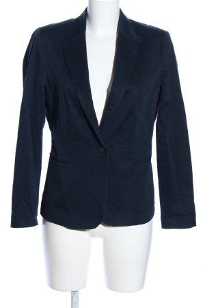 Zara Basic Kurz-Blazer blau Business-Look
