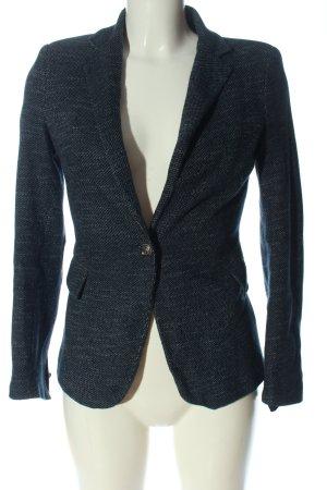 Zara Basic Kurz-Blazer blau Webmuster Casual-Look