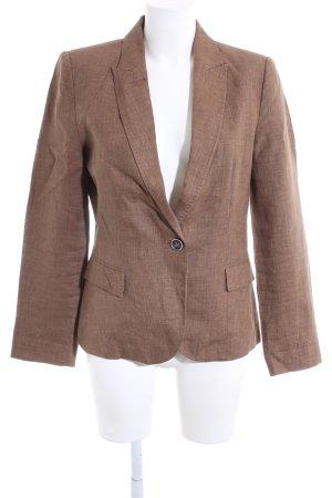 Zara Basic Kurz-Blazer braun meliert Business-Look
