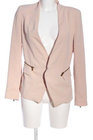 Zara Basic Kurz-Blazer pink Casual-Look