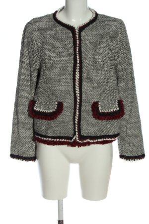 Zara Basic Kurz-Blazer Allover-Druck Casual-Look