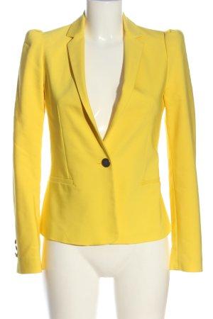 Zara Basic Kurz-Blazer blassgelb Business-Look