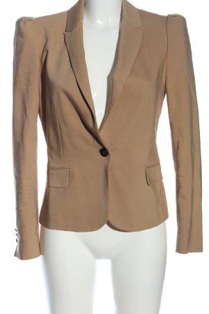Zara Basic Kurz-Blazer braun Business-Look