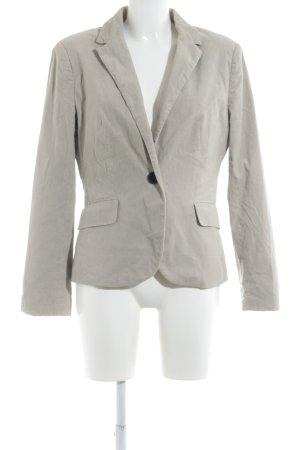 Zara Basic Kurz-Blazer creme Business-Look