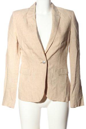 Zara Basic Kurz-Blazer creme meliert Business-Look