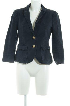 Zara Basic Kurz-Blazer dunkelblau Casual-Look