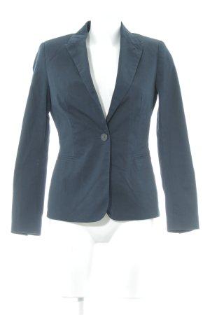 Zara Basic Kurz-Blazer dunkelblau Webmuster Business-Look