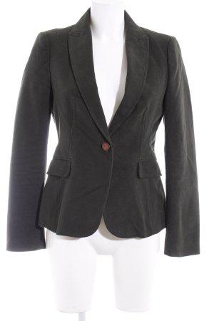 Zara Basic Kurz-Blazer dunkelgrün Business-Look
