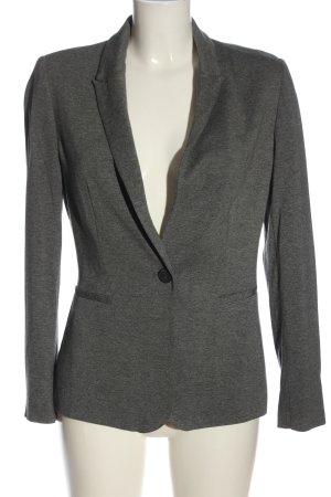 Zara Basic Kurz-Blazer hellgrau meliert Business-Look