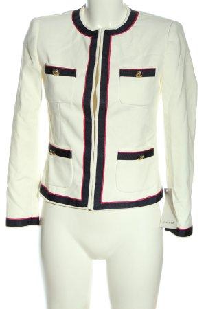 Zara Basic Kurz-Blazer weiß-schwarz Casual-Look