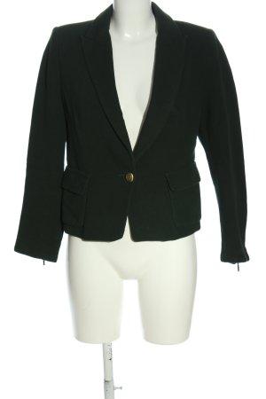 Zara Basic Kurz-Blazer grün Casual-Look