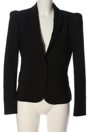 Zara Basic Kurz-Blazer schwarz Business-Look