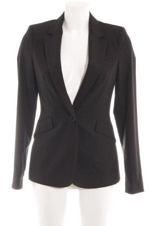 Zara Basic Kurz-Blazer schwarz Elegant