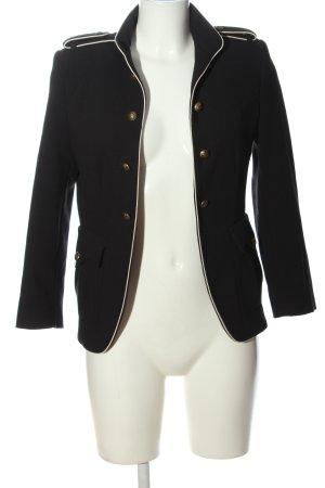 Zara Basic Kurz-Blazer schwarz-weiß Casual-Look