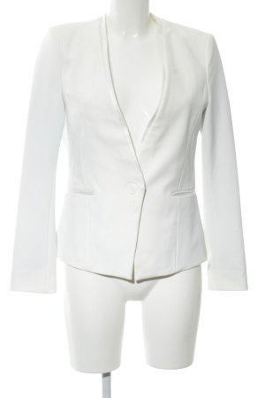 Zara Basic Kurz-Blazer weiß Business-Look