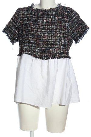 Zara Basic Kurzarm-Bluse mehrfarbig Casual-Look