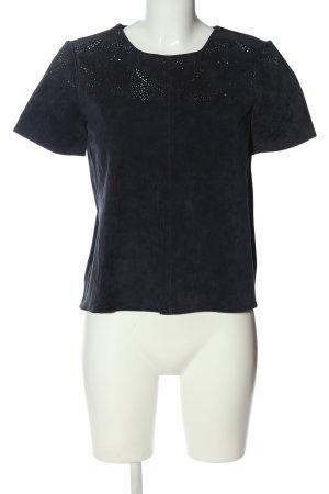 Zara Basic T-Shirt schwarz Casual-Look