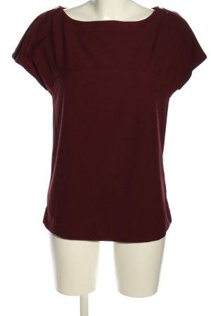 Zara Basic Kurzarm-Bluse rot Casual-Look