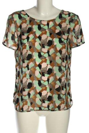 Zara Basic Kurzarm-Bluse Allover-Druck Casual-Look