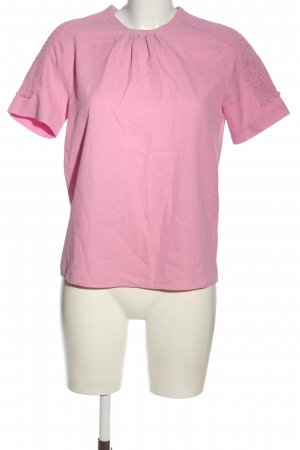 Zara Basic Kurzarm-Bluse pink Elegant
