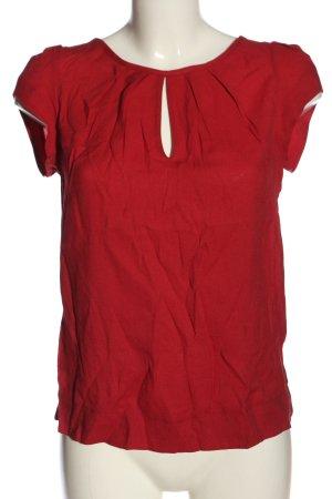 Zara Basic Bluzka z krótkim rękawem czerwony W stylu casual