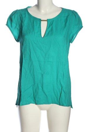 Zara Basic Kurzarm-Bluse grün Casual-Look
