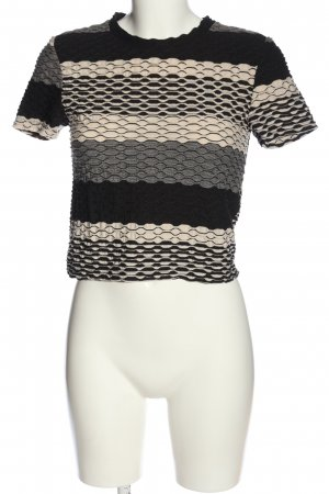 Zara Basic Kurzarm-Bluse grafisches Muster Casual-Look