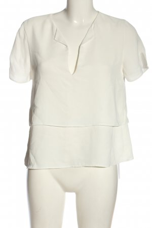 Zara Basic Kurzarm-Bluse weiß Casual-Look