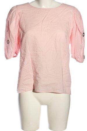 Zara Basic Kurzarm-Bluse pink Casual-Look