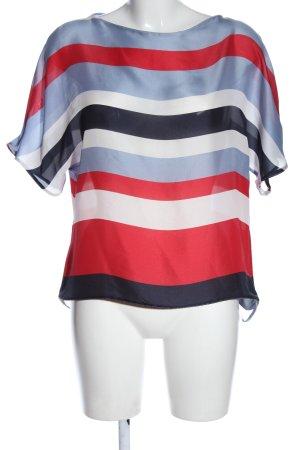 Zara Basic Kurzarm-Bluse Streifenmuster Casual-Look