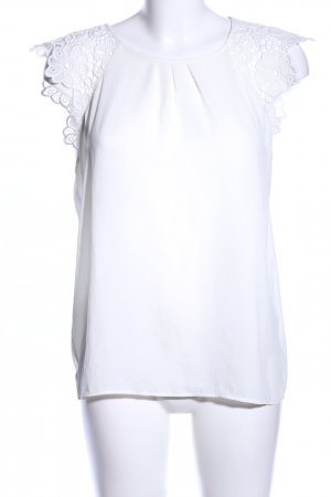Zara Basic Kurzarm-Bluse weiß Business-Look