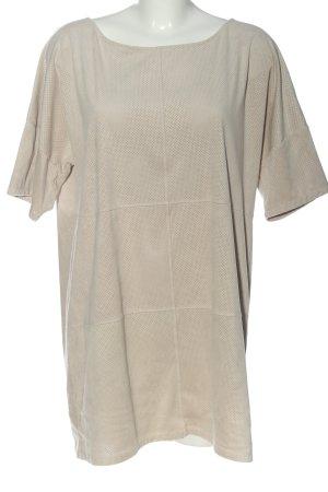 Zara Basic Kurzarm-Bluse creme Casual-Look