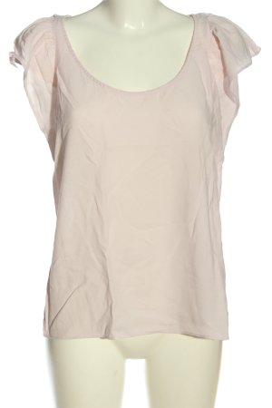 Zara Basic Kurzarm-Bluse wollweiß Casual-Look