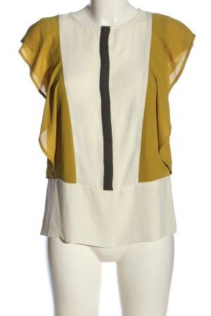 Zara Basic Kurzarm-Bluse mehrfarbig Business-Look