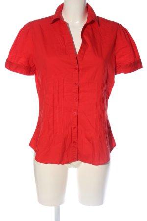 Zara Basic Kurzarmhemd rot Business-Look